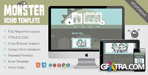 ThemeForest - Monster vCard Template - RIP