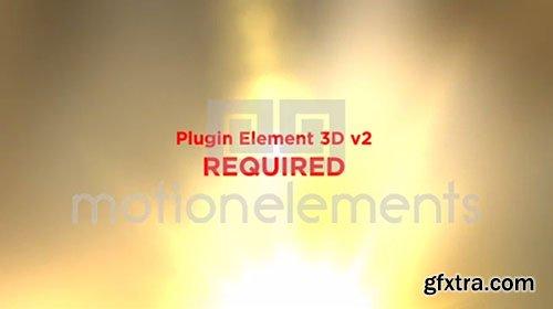 Motion Elements - 3D Carbon Logo Opener - Element 3D V2 After Effects Project