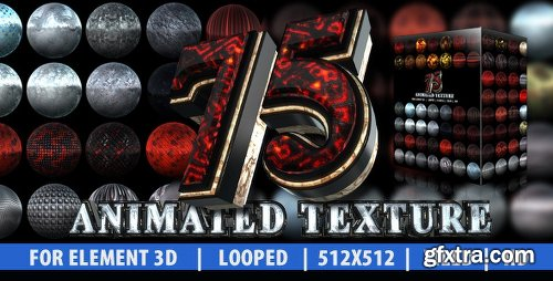 Videohive 75 Animated Texture (Element 3D) 6870041