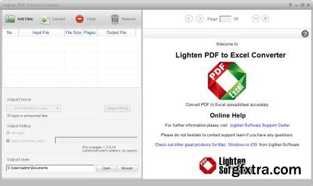 Lighten Software PDF to Excel Converter 5.3.0 Multilingual + Portable