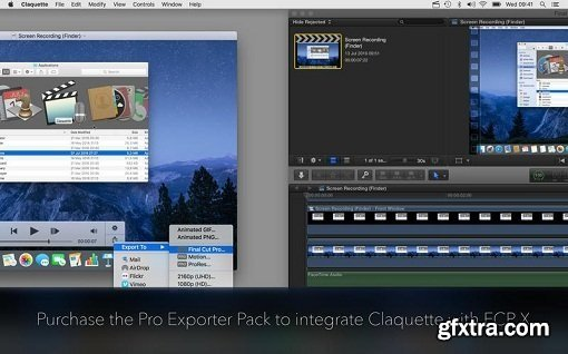 Claquette 1.5 + Pro Exporter Pack for Final Cut Pro X and Motion 5 (Mac OS X)