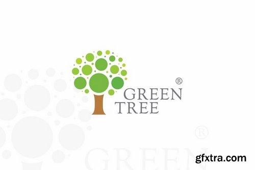 Green Creative Tree Logo