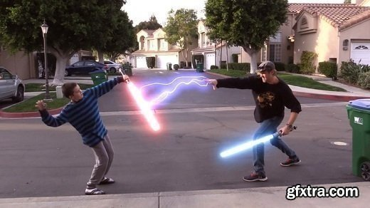 Star Wars Effects! Lightsabers and Force Lightning!