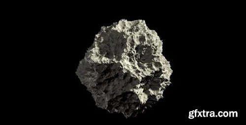 Asteroid Rock In Space Loop Alpha - Motion Graphics 70256