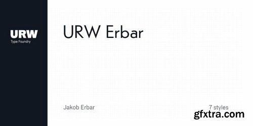 URW Erbar Font Family - 7 Fonts