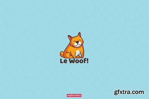Hand-Drawn Cute Dog Logo Template