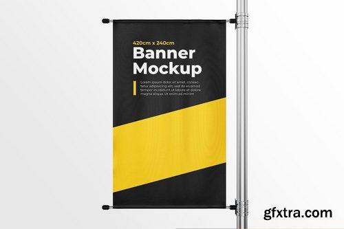 Pillar Banner Mock-Up Template