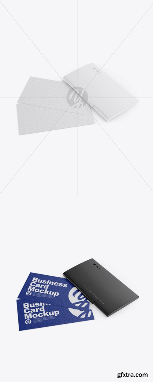 Glossy Cardholder w/ Two Textured Business Cards 41016