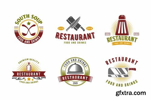 Set of Restaurant and Food Logo Badge