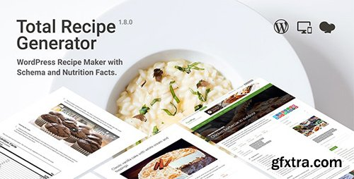 CodeCanyon - Total Recipe Generator v1.8.0 - WordPress Recipe Maker with Schema and Nutrition Facts - 19410410