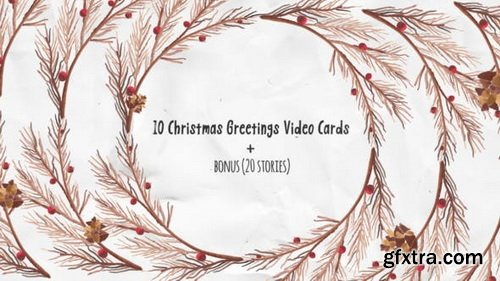 Videohive - Christmas Greeting Video Cards - 22951656