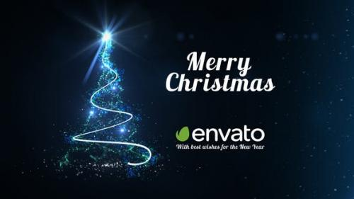 Videohive - Light Tree - Christmas Greetings - 9625229