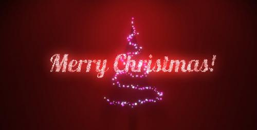 Videohive - Music Lights on Tree - Christmas Greetings - 13758602