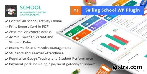 CodeCanyon - School Management System for Wordpress v58.0 - 11470032 - NULLED