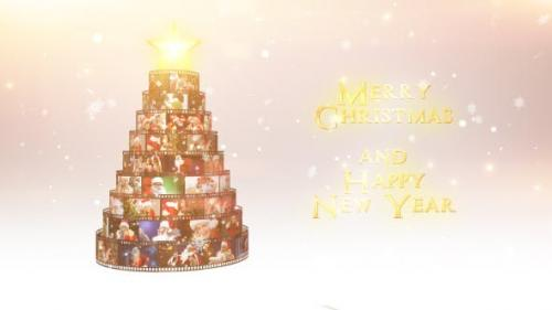 Videohive - Merry Christmas Film Reel Wishes - 18996758