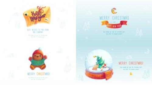 Videohive - Christmas and New Year Greeting Cards - 22749899
