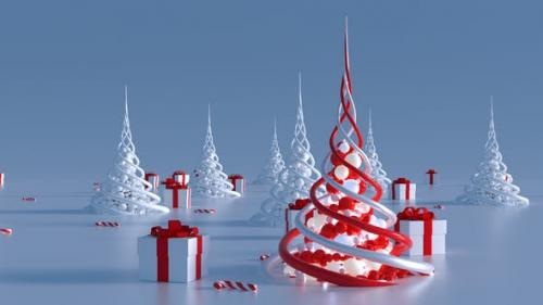 Videohive - Abstract Christmas Trees (2 in 1) - 21036601