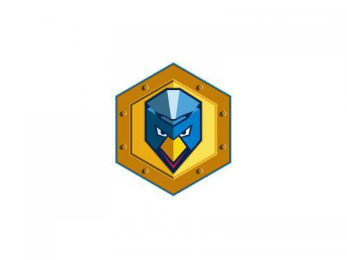 Cyber Punk Chicken Hexagon Icon