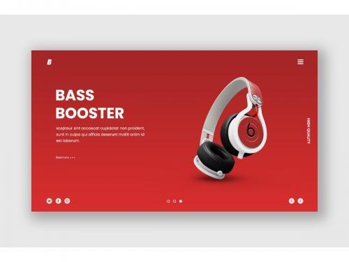 Gadget Online Store Hero Header Template