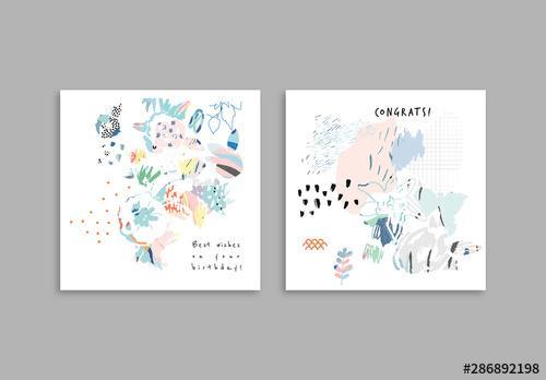 Floral Cards Set - 286892198
