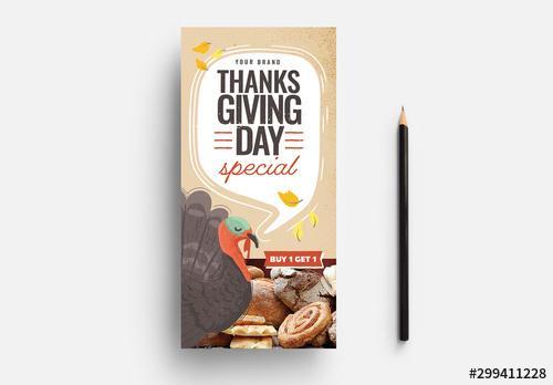 Thanksgiving Flyer Template - 299411228