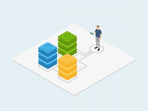 IT Services Isometric Illustration