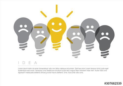 Idea Infographic with Lightbulb Illustration - 307682539