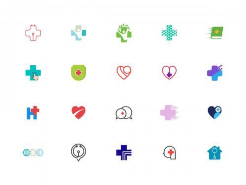 Medicine/healty logo/icons set