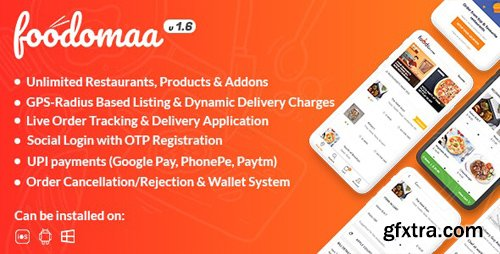CodeCanyon - Foodomaa v1.6 - Multi-restaurant Food Ordering, Restaurant Management and Delivery Application - 24534953 - NULLED