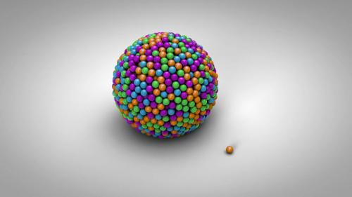 MotionElements - Colorful 3D Balls Logo Reveal - 13696343