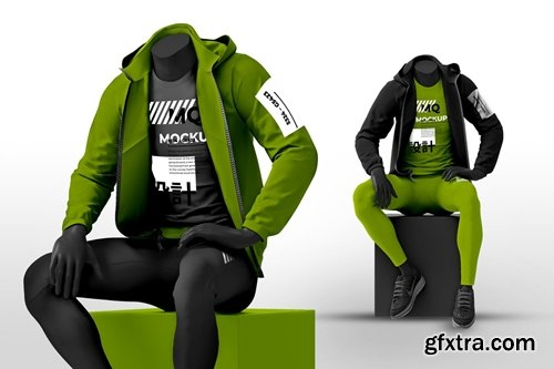 Male Mannequin with Hoodie Mockups
