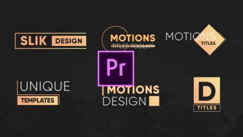 Videohive - Motion Titles Pack - 26142413
