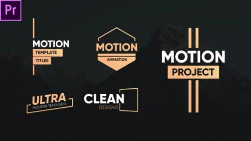 Videohive - Clean Motion Titles-Premiere Pro - 26342522
