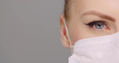 Videohive - Portrait of Surgeon Close Up, Doctor with Protective Mask Extreme Close Up - 26239757