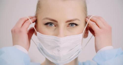 Videohive - Woman Wearing Protective Mask Coronavirus Covid-19 - 26249425