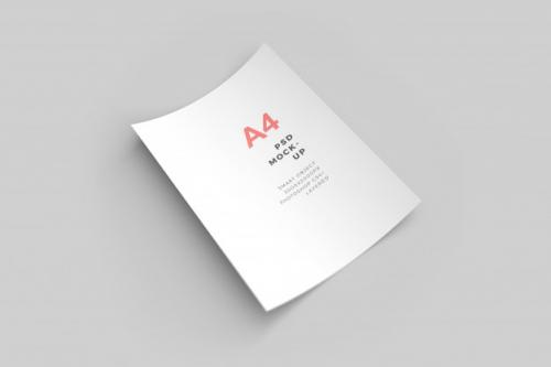 A4 Paper Psd Mockup /// Please No Spam Tags // No Complex Tags // Only One Word Tags // No Psd Extension // Premium PSD