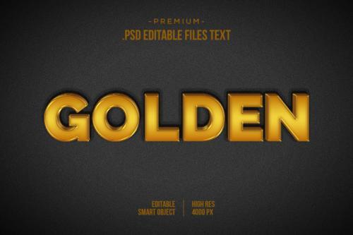 Golden Text Effect Psd, Set Elegant Abstract Beautiful Text Effect, 3d Text Style Premium PSD