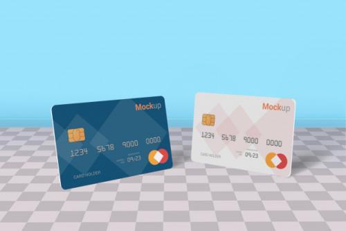 Debit Card, Credit Card, Smart Card Mock-up Premium PSD