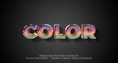Color Text Style Effect , Premium Text Effects Premium PSD