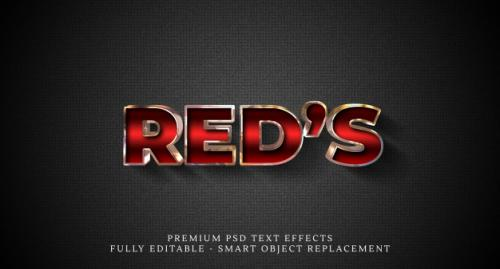 Reds Text Style Effect , Premium Text Effects Premium PSD