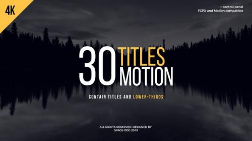 Videohive - 30 Motion Titles | FCPX or Motion - 23651312