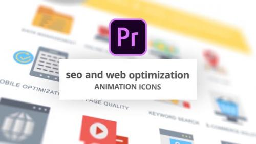 Videohive - SEO and Web Optimization - Animation Icons (MOGRT) - 26755868