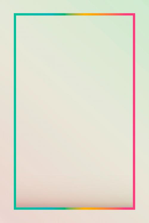 Gradient border background vector - 1217004