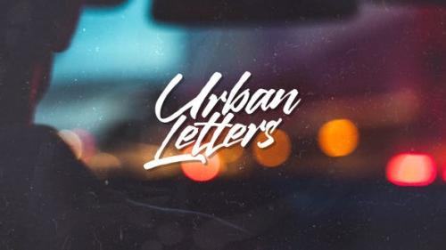 Videohive - Urban Letters - 22712429
