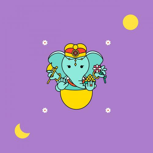 Ganesha Diwali festival background vector - 1180547