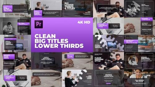 Videohive - Clean Big Titles Lower Thirds – Mogrt - 23792674