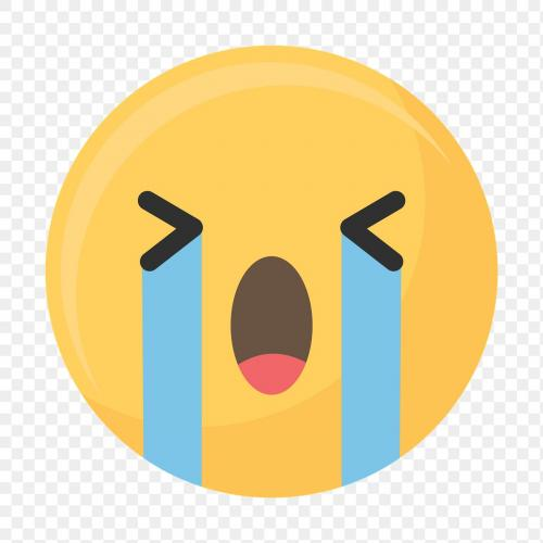 Crying face emoticon symbol transparent png - 1230159