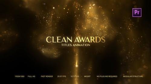 Videohive - Golden Particles Award Titles – Mogrt - 27480757