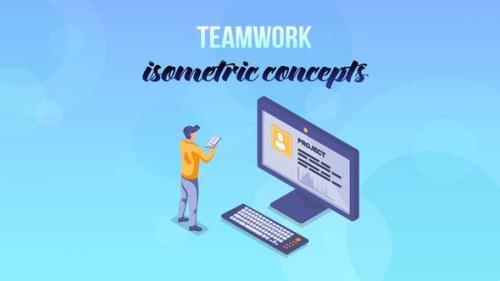 Videohive - Teamwork - Isometric Concept - 27529370
