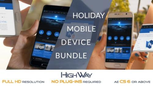 Videohive - Holiday Mobile Device Bundle   Match Moving - 19676952